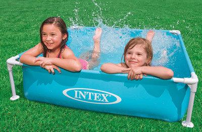 Intex  Zwembad met metalen frame (122x122x30)